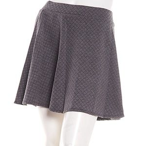 Brown Pleated Mini Skirt